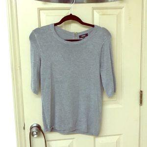 Gray, 1/2 sleeve light sweater